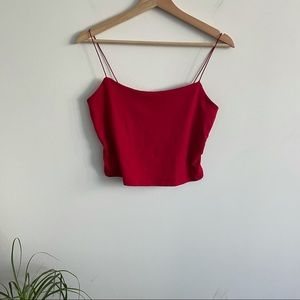 Gaze - Red Spaghetti Strap Tube Top - Lined